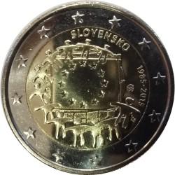 Eslováquia - 2€ 2015 30 Anos Bandeira da Europa