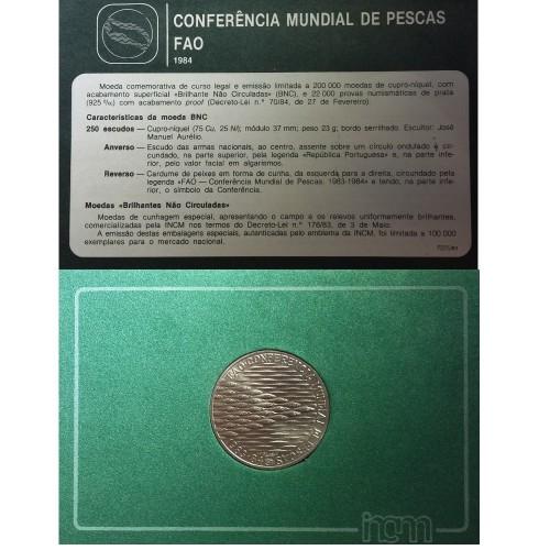 """250$00 1984 Bu Coin """"FAO Fisheries"""""""