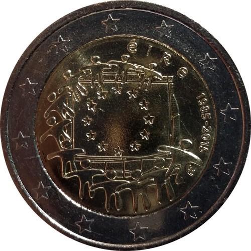 Finlândia 2€ 2015 30 Anos Bandeira da Europa