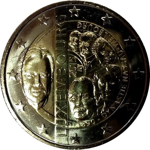 "Luxembourg - 2€ 2015 ""Nassau Weilbourg Dynasty"""