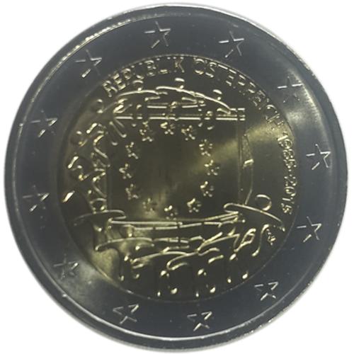 Austria - 2€ 2015 30 Anos Bandeira da Europa