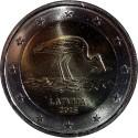Latvia 2€ 2015 (The Black Stork)