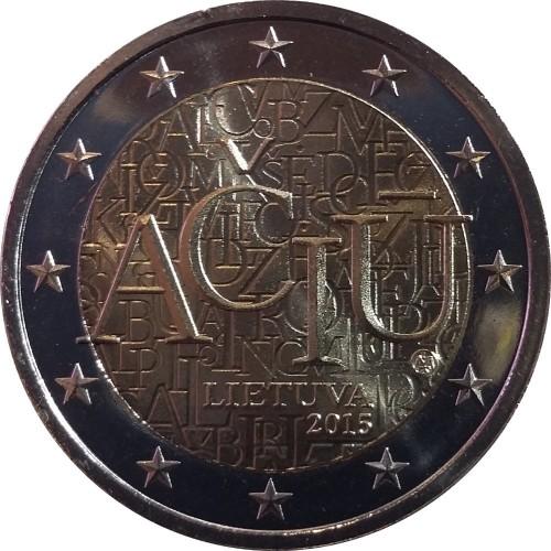 Lituânia 2€ 2015 (Idioma da Lituânia)