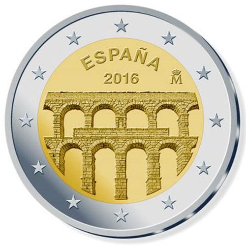 Espanha 2€ 2016 Aqueduto de Segóvia