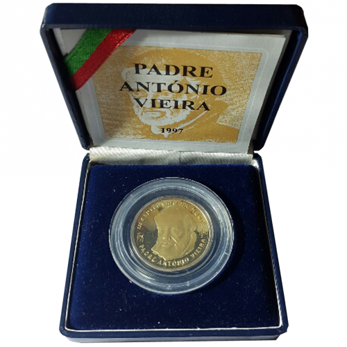 Proof 500$00 Father António Vieira ( Bimetalic) 1997