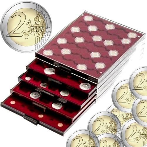 Tabuleiro para 35 moedas de 2 Euros