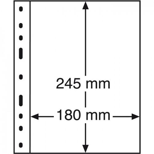 Folhas A5 OPTIMA Transparentes com 1 Divisória