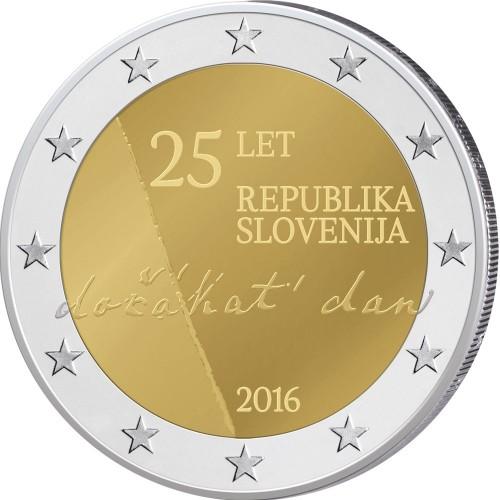 Eslovénia 2€ 2016 (Independência da Eslovénia)