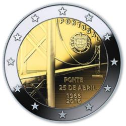 Portugal 2€ Ponte 25 de Abril 2016