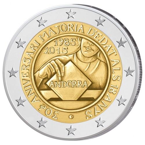 Andorra 2€ 2015 (25th Anniv. Customs Union)