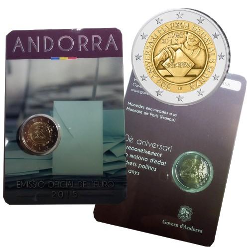 Andorra 2€ 2015 (25º Aniv. da União Aduaneira)