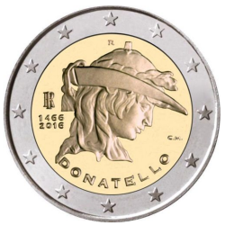 Italy 2€ 2016 Donatello