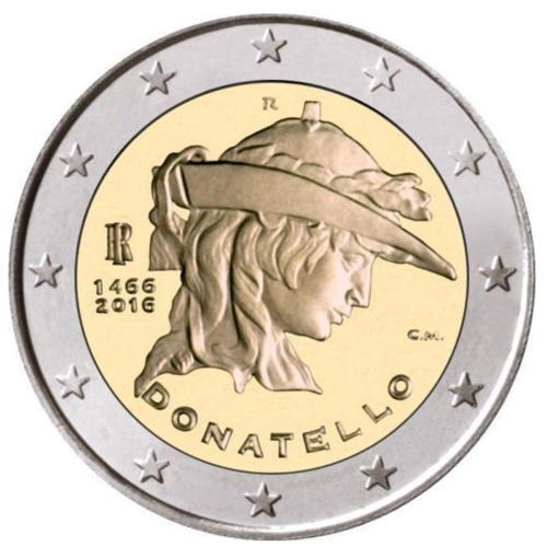 Itália 2€ 2016 Donatello