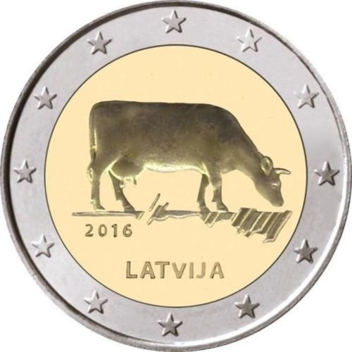 Latvia 2€ 2015 (The Black Stork)