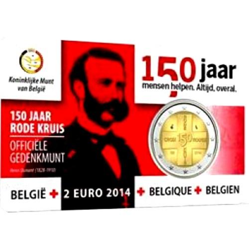 Bélgica 2€ 2014 (Cruz Vermelha)