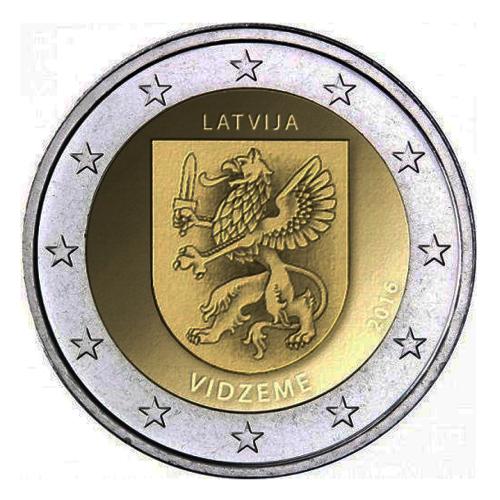 Letónia 2€ 2016  (Região Vidzeme)
