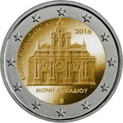 Grécia 2 € 2016 (Mosteiro de Arkadi)