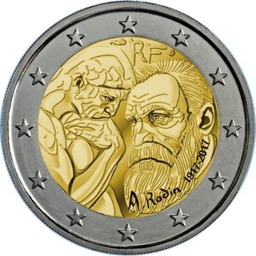 França 2€ 2017 (Auguste Rodin)