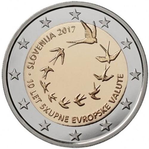 Eslovénia 2€ 2017 (10 Anos do Euro)