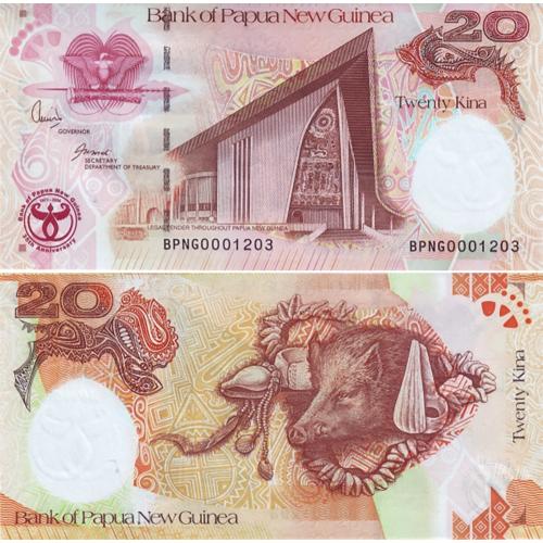 Papua Nova Guiné 20 Kina 2008