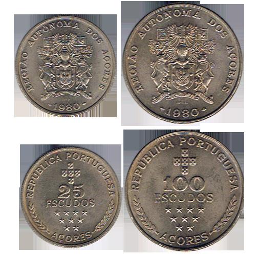 100$00 e 25$00 (Colecção Açores)