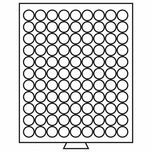 Tabuleiro para 99 moedas de 19.5 mm