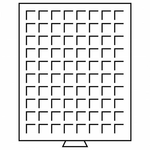 Tabuleiro com 20 Divisórias para alvéolos ou cápsulas Quadrum
