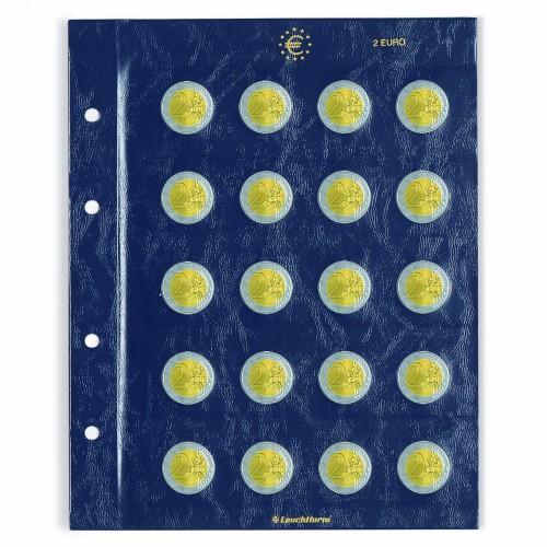 Folhas para 20 moedas de 2€