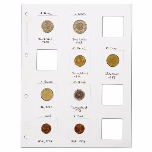 Folhas Matrix para 12 moedas em alvéolo