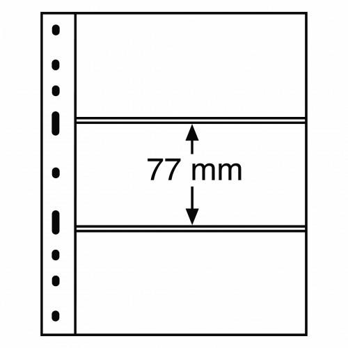 Folhas A5 OPTIMA Transparentes com 3 Divisórias