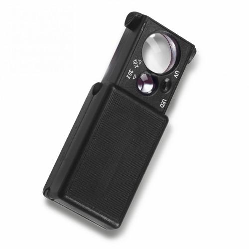 Lupa de bolso com Luz  10 e 30X