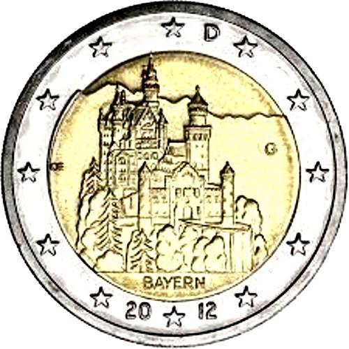 Germany 2€ 2012 (Neuschwanstein Castle)