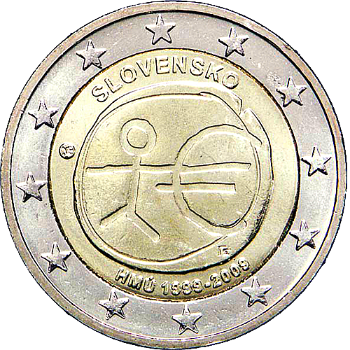 Eslováquia 2€ 2009 Liberdade e Democracia