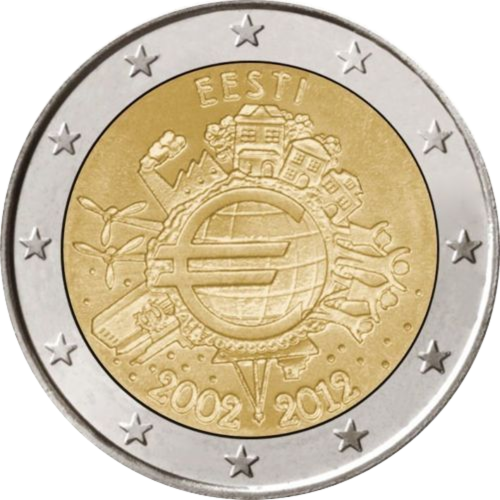 Estónia 2,00€ 2012 (10º Aniversário do Euro)