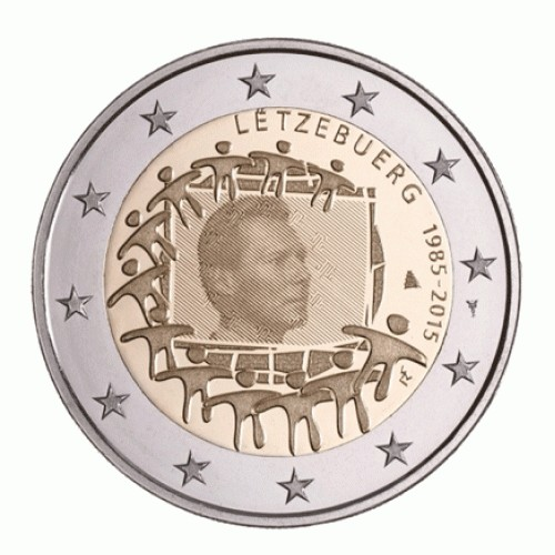 Luxembourg 2 € 2015 (30 Years European Flag)