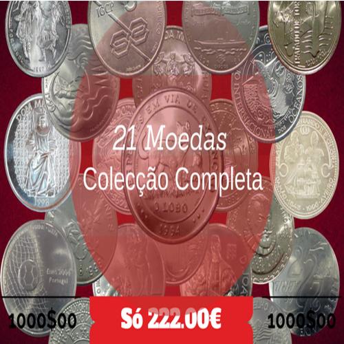 Colecção de 1000$00 (21 Moedas)