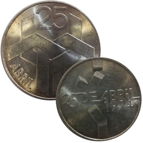 April 25 1974 - 100 & 250 escudos (Silver)