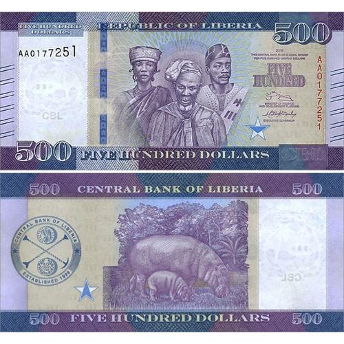 Libéria 500 Dolares 2016