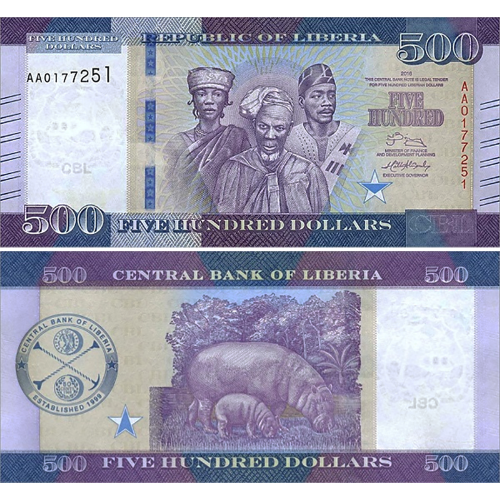 Liberia 100 Dollars 2016