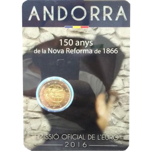 Andorra 2€ 2016 (150th Anniv. of the Reform)