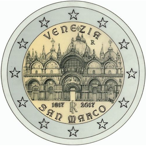 Italy 2€ 2017 Basilica of San Marcos