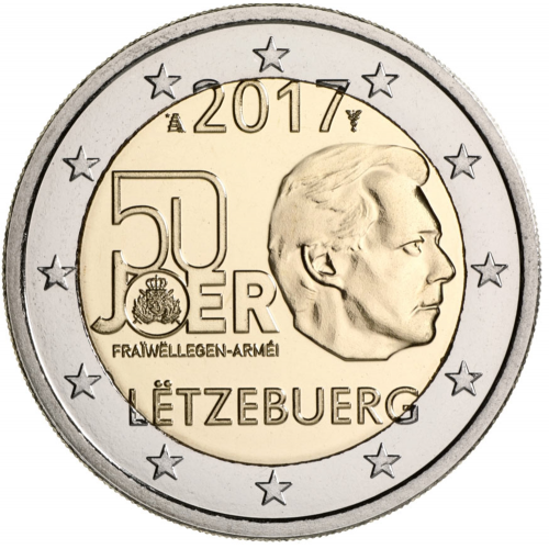 Luxemburgo 2€ 2017 Serviço Militar