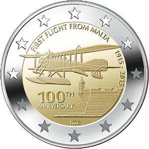 Malta 2€ 2015 Aviação de Malta