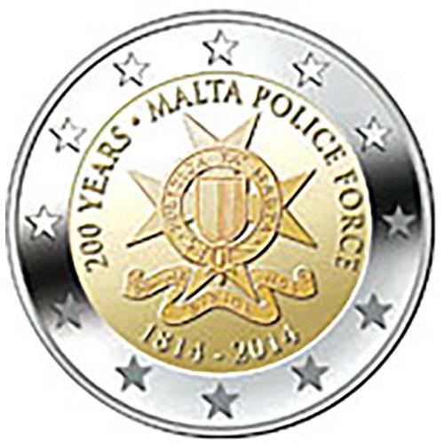 Malta  2€ 2014 Força Policial