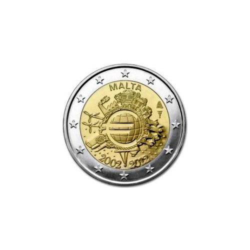 Malta 2€ 2012 10º Aniversário do Euro