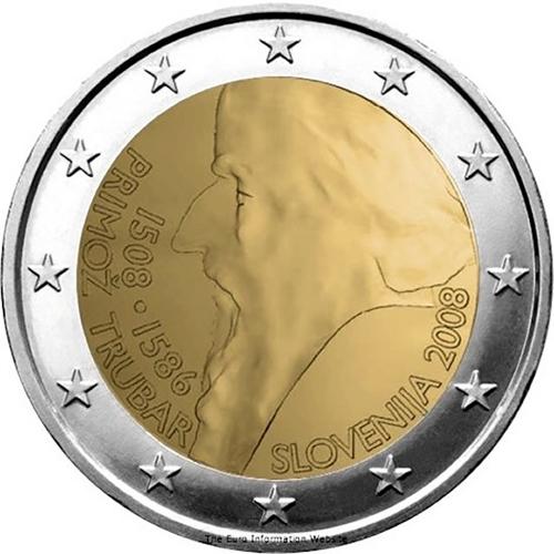 Slovenia  2€ 2008 Primoz Trubar