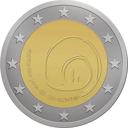 Slovenia  2€ 2013 Postojna Cave