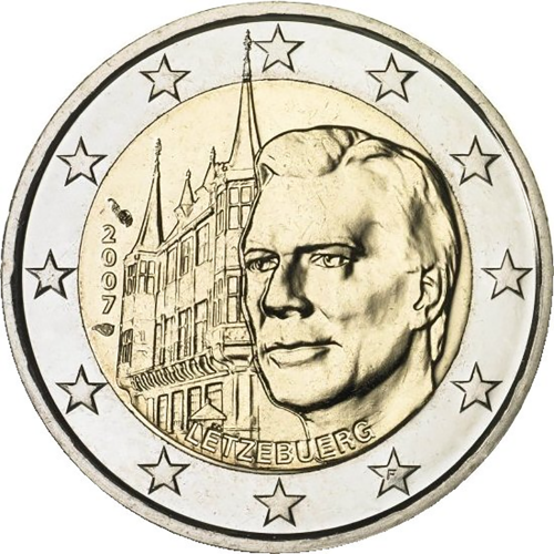Luxembourg 2€ 2007 Ducal Palace
