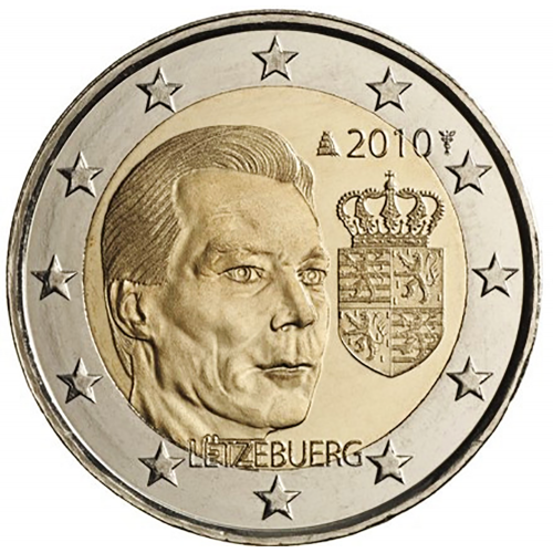 Luxembourg 2€ 2010 Coat of arms of the Grand Duke