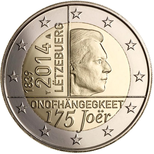 Luxembourg 2€ 2014 175 Years of Independence